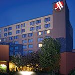 Ann Arbor Marriott exterior night scene