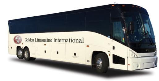 Golden Limousine motor coach